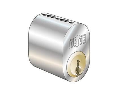 Cylinderlås Kaba Gege pExtra+ i mekaniskt låssystem.