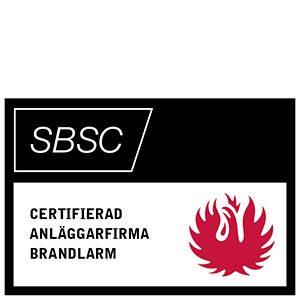 Ikon från SBSC för certifierad anläggarfirma brandlarm