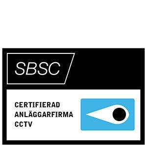Ikon från SBSC för certifierad anläggarfirma CCTV