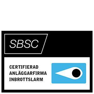 Ikon från SBSC för certifierad anläggarfirma inbrottslarm