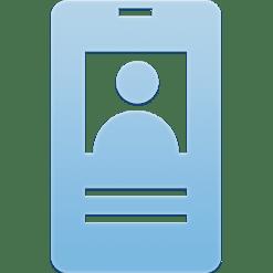 Ikon av en ID-bricka i ett passersystem.