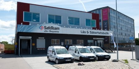 SafeTeam Lås-Borgströms säkerhetsbutik och låssmed på Fosievägen i Malmö.