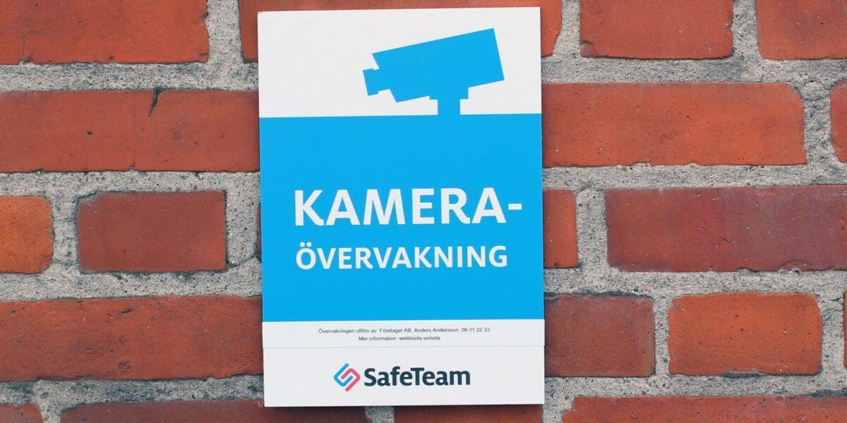 Kameraövervakningsskylt