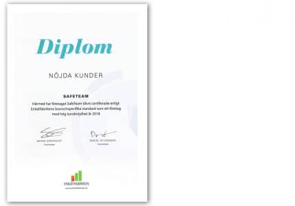 Diplom Nöjda Kunder