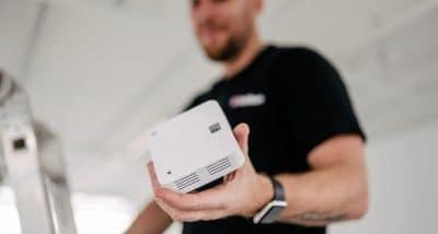 Brandvarnare kopplas till wifi-nätverk