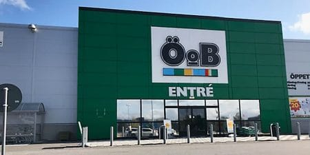 ÖoB-butik med säkerhetsinstallation av SafeTeam.