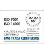 ISO Kvalitets- & Miljöcertifierad
